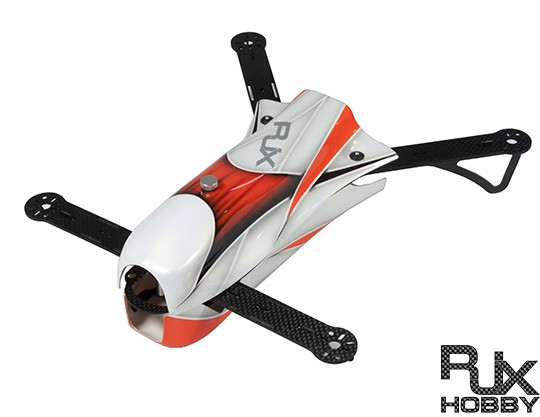 RJX CAOS 330 FPV Racing Quadcopter Orange-Frame Only