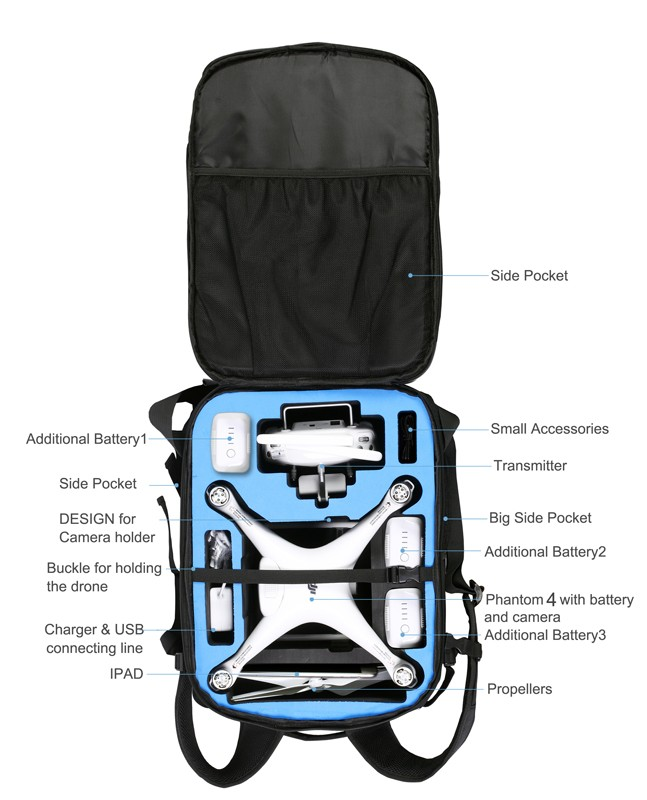 Back Pack for Phantom 4 / Phantom 4 Pro
