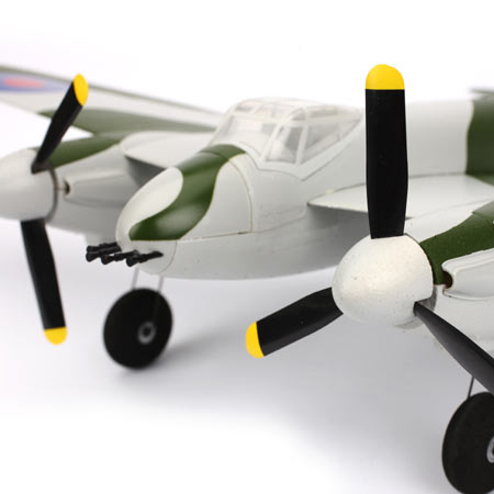 The Mosquito also boasts all kinds of scale details like an authentic camo paint scheme, simulated exhausts and nose guns.