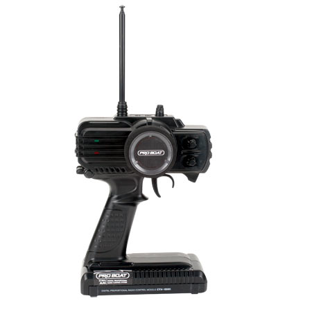 The Mini-V includes a 2-channel, 27mHz AM pistol-grip radio from Pro Boat preinstalled. With features like servo reversing, steering and throttle trim adjustments and more, you stay in precise control.