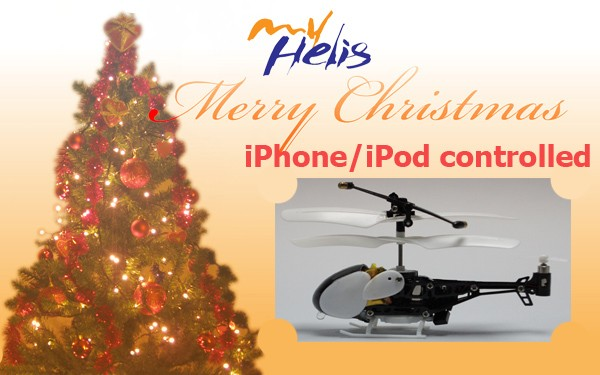 Iphone controlled 3ch mini helicopter with gyro