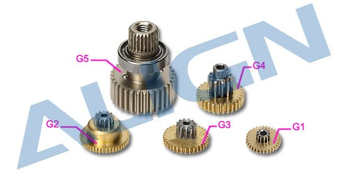 DS515 Servo Gear Set