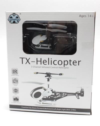 "3ch mini helicopter with gyro,""U""transmitter"