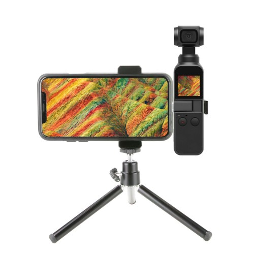Aluminum Alloy Phone Mount with Tripod for DJI OSMO Pocket