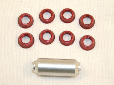 Futaba 9C/10C Switch Nuts- Red