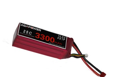 Lipo battery 3300mAh 4S 25C with XT-60 Plug