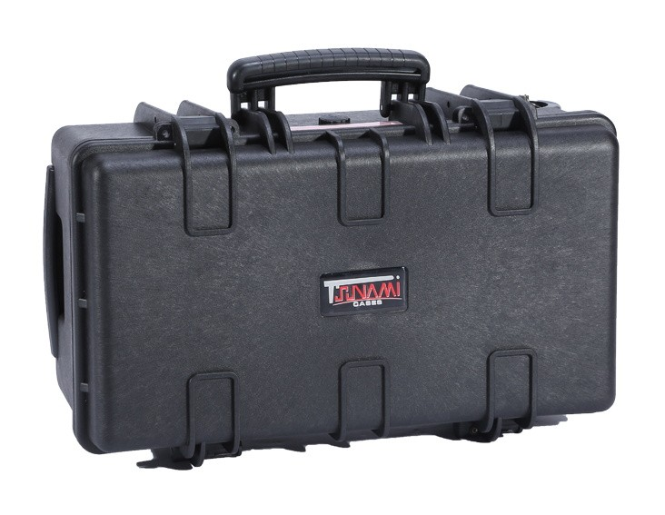 Hard Case with cube foam, wheels, handle, 557*348*248mm