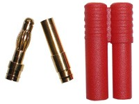 Golden Plug 4 mm (5 pairs ) with Shield