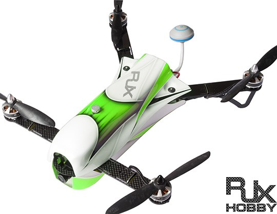 RJX CAOS 330 FPV Racing Quadcopter Green -Combo