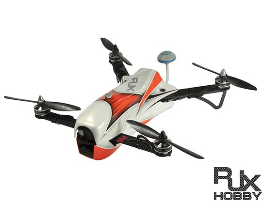 RJX CAOS 330 FPV Racing Quadcopter Orange-Combo