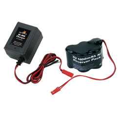 DYNAMITE 6V 1400mAh Ni-MH Receiver Hump Pack with Charger