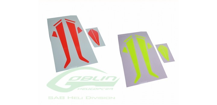 LANDING GEAR AND FIN STICKER - GOBLIN 380