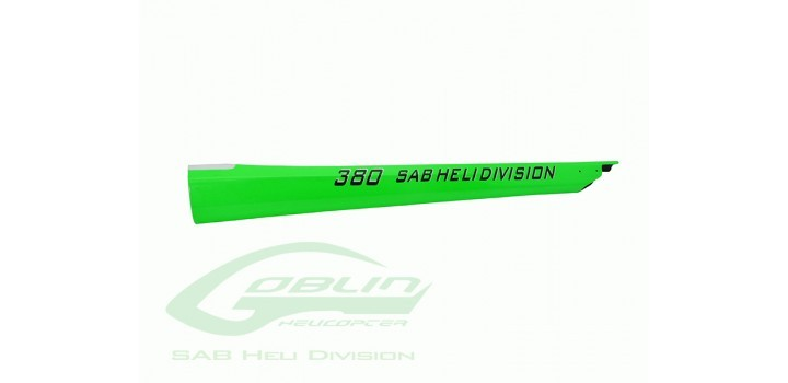 CARBON FIBER TAIL BOOM GREEN - GOBLIN 380