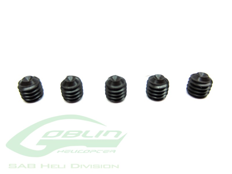 Cone Point Set Screws M4x4