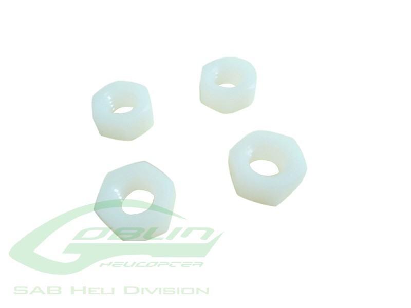 Metric Hex Nuts M8 H6,5 Nylon