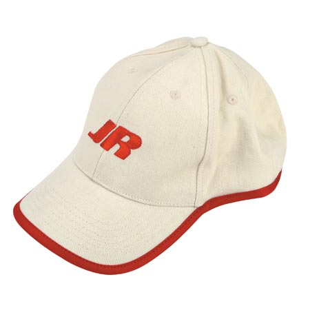 HAT , Cream w/Red Piping : JR