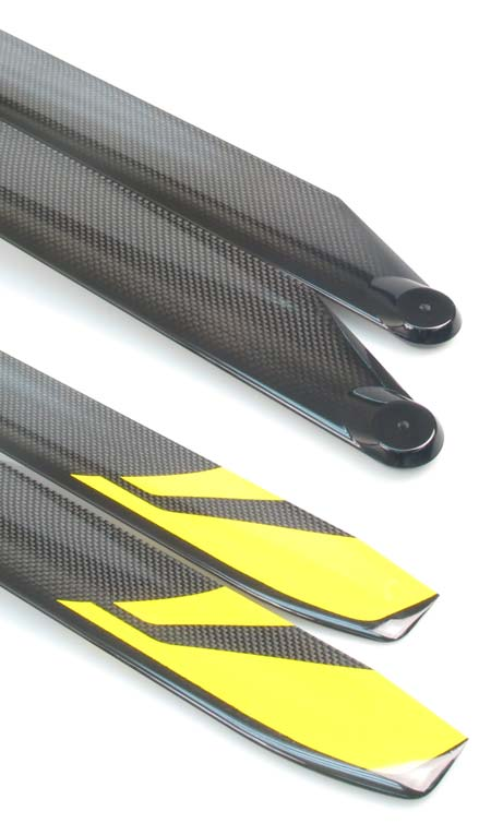 RotorTech 610mm Symmetrical Carbon Fiber Main Blades