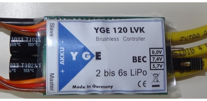 YGE 120 LVK Speed Controller
