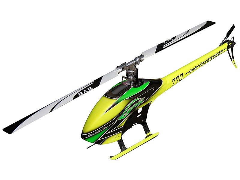 GOBLIN 770 COMPETITION YELLOW/GREEN (With main blades and tail blades)