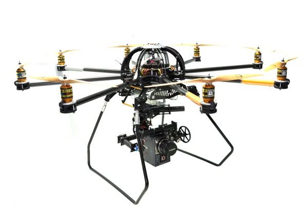 Octocopter Skyjib 8 360 pan Cinema