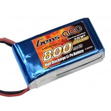 Gens ace 800mAh 7.4V 40C 2S1P Lipo Battery Pack