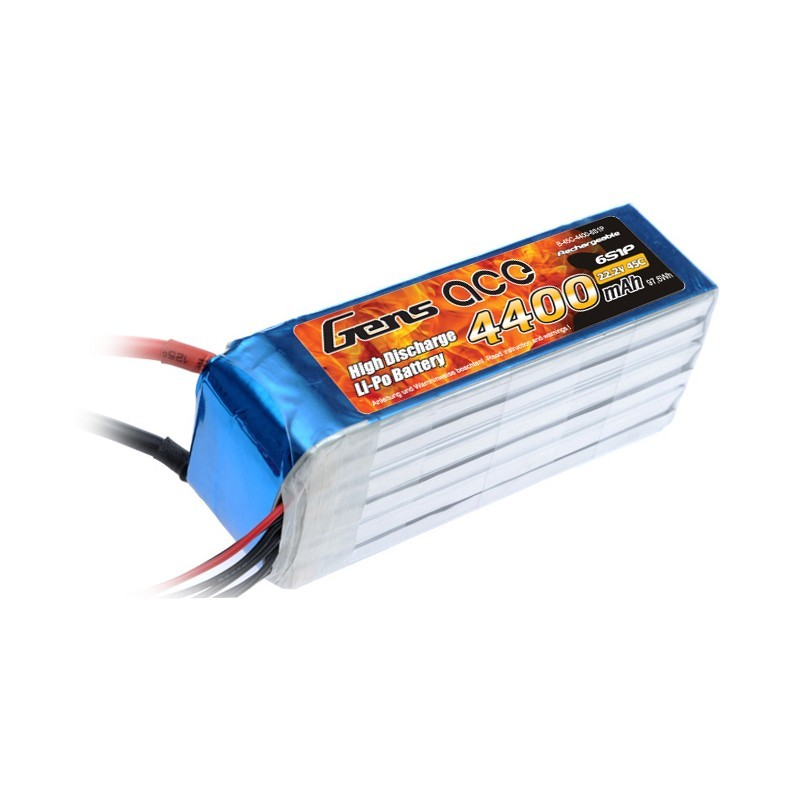 Gens ace 4400mAh 22.2V 45C 6S1P Lipo Battery Pack for Goblin 500 SPORT