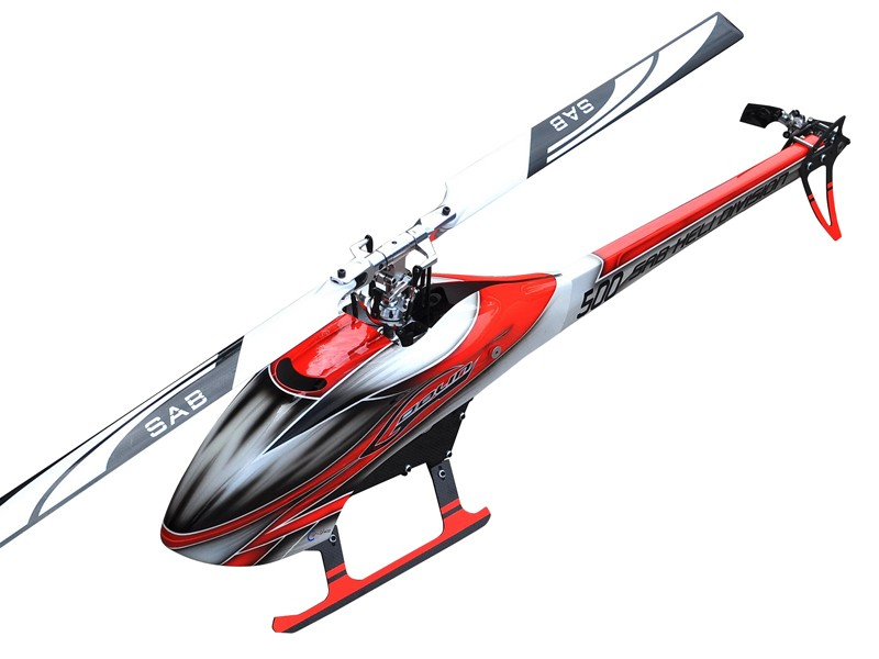 Goblin 500 Flybarless Electric Helicopter Red/White
