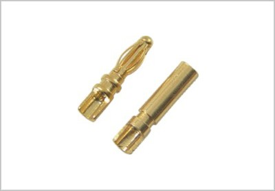 GOLD CONNECTOR 2.0mm PAIR
