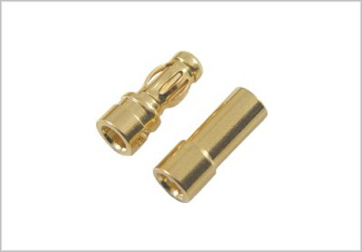 GOLD CONNECTOR 3.5mm PAIR