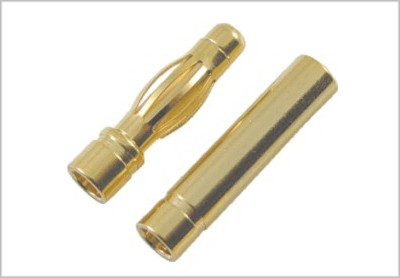 GOLD CONNECTOR 4.0mm PAIR