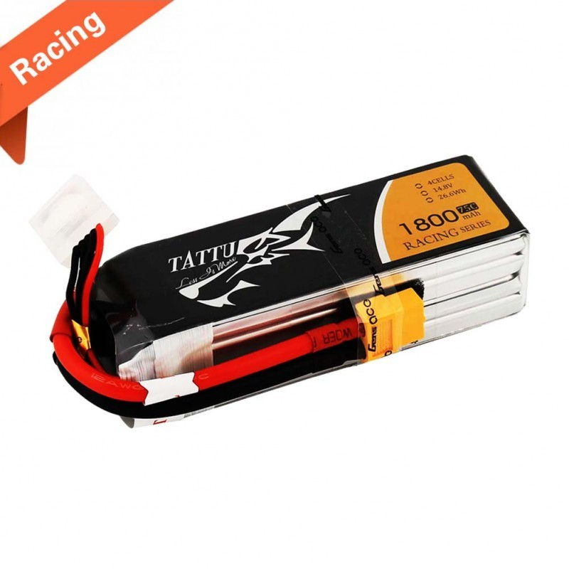 Tattu 1800mAh 14,8V 75C 4S1P Lipo Special made for Victory