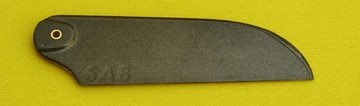 SAB Tail Rotor Blades Carbon 95mm, Titanium